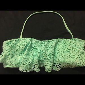 Mint Green Bandeau Swim Top